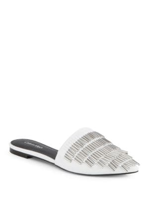 Addie Leather Slip-Ons by Calvin Klein