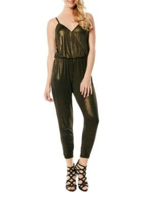 Golden Sleeveless Jumpsuit by Laundry by Shelli Segal