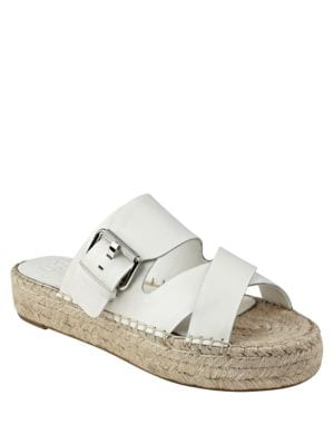 Venita Suede Espadrille Slide Sandals by Marc Fisher LTD