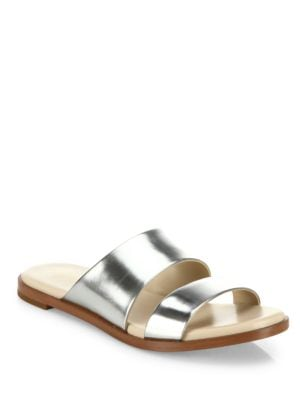 Anica Metallic Leather Slides by Cole Haan