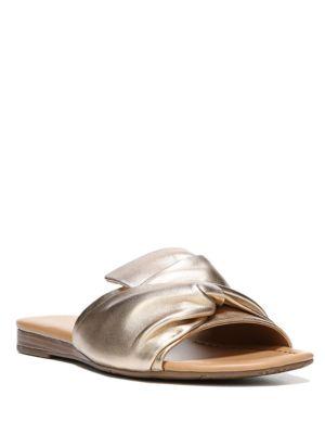 Gracelyn Leather Slide Sandals by Franco Sarto