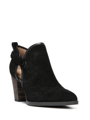 Dakota Leather Perforated Booties by Franco Sarto