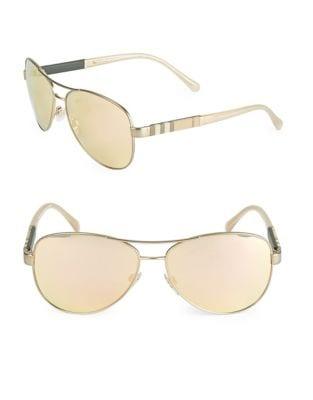 59MM Mirrored Pilot Sunglasses 500086998304