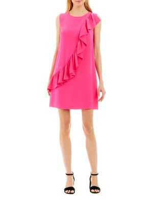 Ruffled Shift Dress by Nicole Miller New York