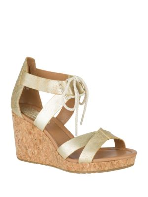 Dawn Ari Platinum Wedge Sandals by Sperry