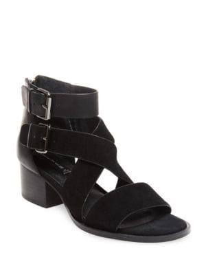Elinda Leather Block Heel Sandals by Steven by Steve Madden