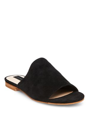 Buy Calahan Leather Slide Sandals by Steven by Steve Madden online