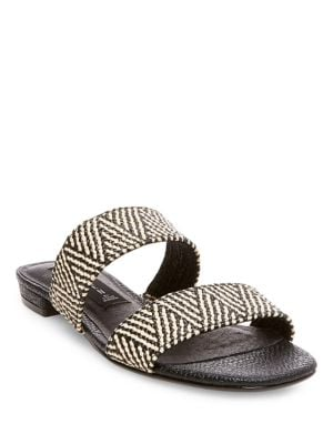 Friendsy Woven Slide Sandals by Steven by Steve Madden