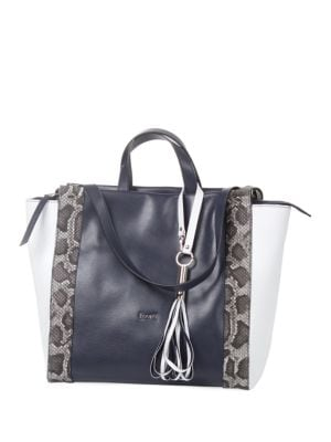 Cipro Double Handle Leather Tote 500087000664