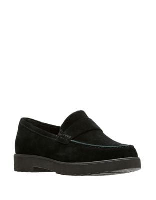 Belevu Suede Penny Loafers by Clarks