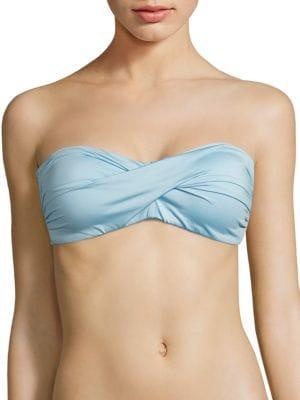 Classic Solids Bandeau Bikini Top by Carmen Marc Valvo