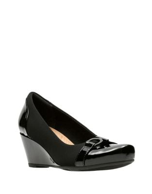 Florespopy Fabric Wedge Pumps by Clarks