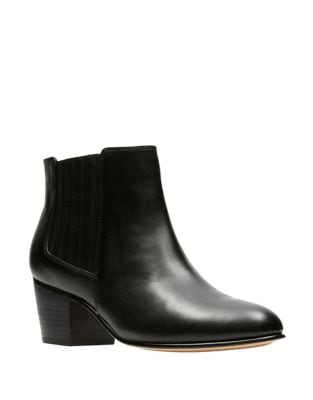 Mayprl Leather Ankle Boots by Clarks