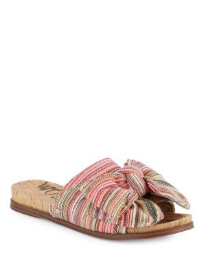 Striped Slip-On Sandals by Sam Edelman