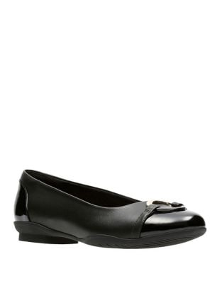 Neenah Embellished Leather Flats by Clarks