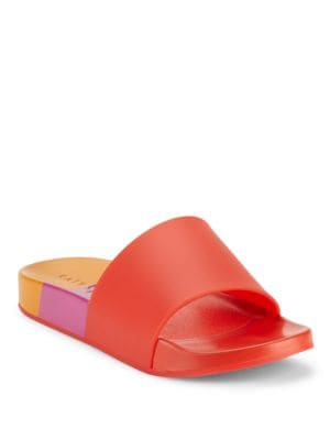 Fifi Colorblock Slide Sandals by Katy Perry