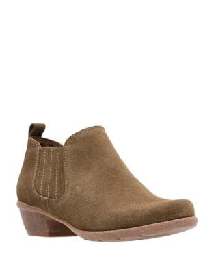 Wilros Suede Booties by Clarks