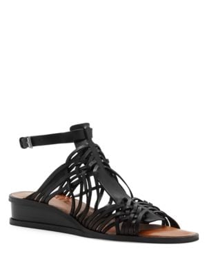 Maliyah Leather Wedge Sandals by 1.STATE