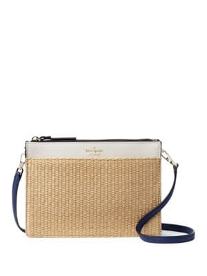 Clarise Woven Leather Crossbody Purse by Kate Spade New York