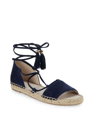 Frances Espadrille Leather Lace-Up Sandals by Kenneth Cole New York
