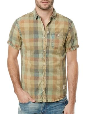 Savilica Plaid Shirt by BUFFALO David Bitton