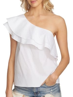 Asymmetric Neckline Ruffled Blouse by 1.STATE
