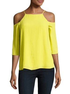 Textured Cold-Shoulder Top by Ellen Tracy