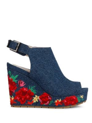 Olani Floral Printed Wedge Sandals by Kenneth Cole New York