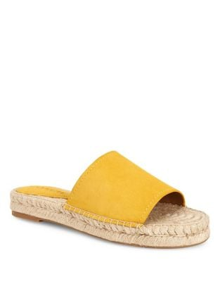 Suede Slide Sandals by COACH