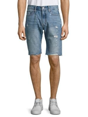 Distressed Cut-Off Denim Shorts by Lucky Brand