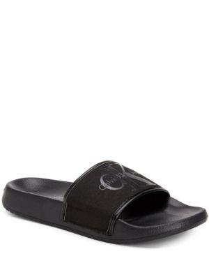 Vinny Canvas Slide Sandals by Calvin Klein