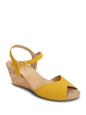 Cupcake Suede Wedge Heel Sandals by Aerosoles
