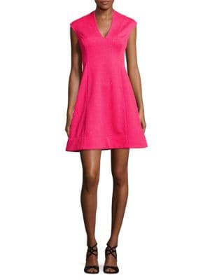 Textured Cap-Sleeve Dress by Vince Camuto