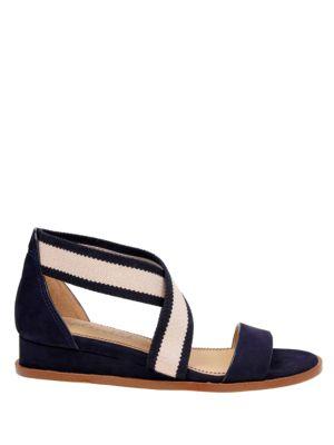 Janae Demi-Wedge Leather Sandals by Splendid