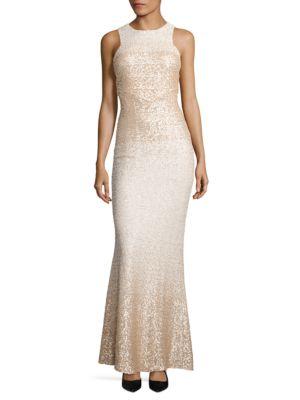 Sequined Racerback Dress by Badgley Mischka Platinum