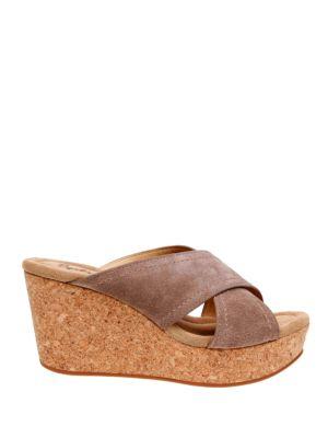 Joan Crisscross Platform Slide Sandals by Splendid