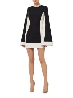 Joy Colorblock Bell Sleeve Mini Dress by Misha Collection