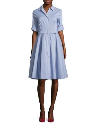 Cotton-Blend Zip-Front Dress by Ivanka Trump