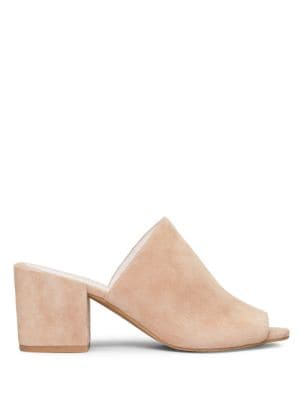 Vega Suede Block Heel Mules by Kenneth Cole New York