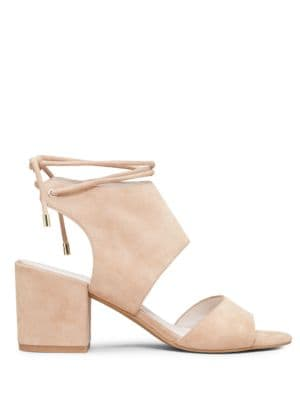 Vito Ankle-Wrap Suede Block Heel Sandals by Kenneth Cole New York