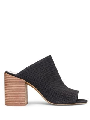 Karolina 3 Leather Block Heel Mules by Kenneth Cole New York