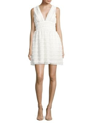 Fringed Lace Dress by Aidan Aidan Mattox