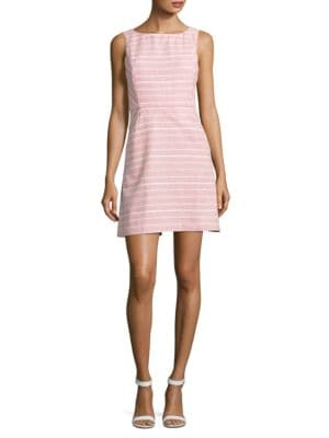 Striped Tweed Fit and Flare Dress by Jessica Simpson