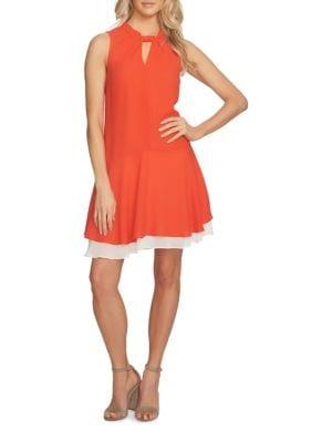 Sleeveless Layered Hem A-Line Dress by Cynthia Steffe