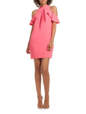 Amado Cold-Shoulder Crepe Dress by Trina Turk