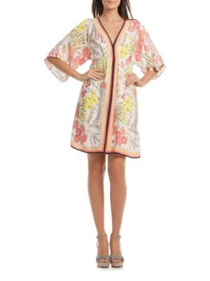 Tamarisk Floral-Print Kimono Sleeve Dress by Trina Turk