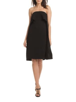 Genius Strapless Popover Cape Dress by Trina Turk
