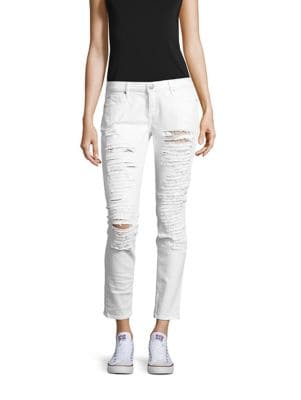 Casey Low-Rise Distressed Super Skinny Jeans 500087020344