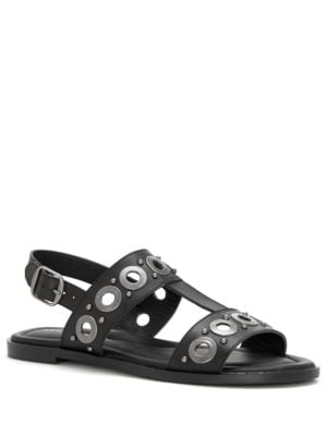 Ansel Leather Flat Sandals by Lucky Brand