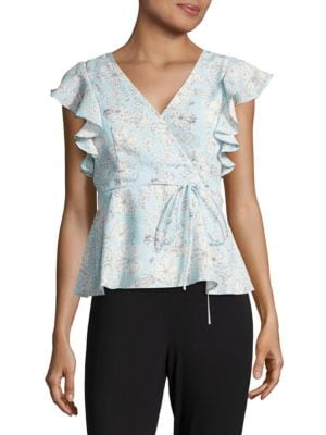 Design Lab Ruffled Floral Blouse by Design Lab Lord & Taylor